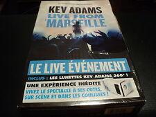 "COFFRET DVD NEUF ""KEV ADAMS - LIVE FROM MARSEILLE"" inclus les lunettes 360°"