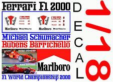 ANEXO DECAL 1/18 FERRARI F1 2000 MICHAEL SCHUMACHER – RUBENS BARRICHELLO (05)