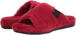 UGG Men's Fluff You Slipper 1117473 Samba Red Fluff Sz 7-16 New