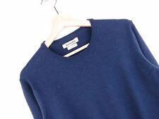 KD985 BEN SHERMAN JUMPER SWEATER ORIGINAL PREMIUM MERINO WOOL BASIC BLUE size S