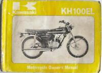 KAWASAKI KH100EL, KH100-A4 - Motorcycle Owners Handbook - Jul 1979