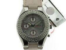 GUESS TREND chrono quarzo acciaio swarovsky e cinturino pelle rosa 15059L6 new