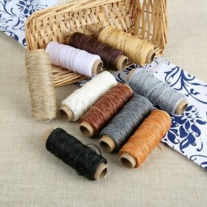 10 Roll 50m 150D Flat Sew Wax Line Thread DIY Leather Craft Sewing Tool 10 Color