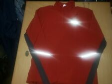 Mens The North Face Red Long Sleeve Athletic Sweatshirt Size Large