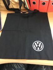 New Made To Order Embroidered Black Tote Bag With VW Black And White Logo