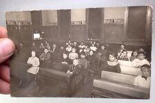 ca.1900's American CLASSROOM Over 30 Adorable Children RPPC Kids, Desks SCHOOL
