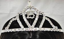 Rhinestone Tiara for 15th Birthday Quinceanera Sweet 15 with Charm- C7557