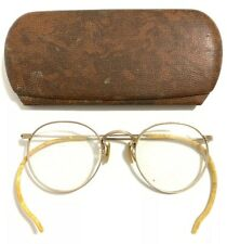 Vtg 1/10 12K Gold GF Prescription RX Eyeglasses Frames Glasses 1950s Bakelite