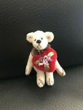 "Little Gem teddy Bear, Vintage Bear Heart ""Juliet"", miniature 3 inches"