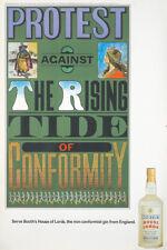 Original Vintage Poster Booth's Gin Chwast Drink 1960s Liquor Booze Bar Protest