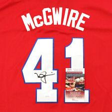 Mark McGwire Signed Team USA St. Louis Cardinals Red Jersey JSA COA