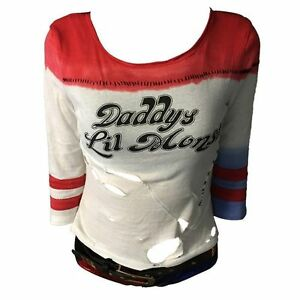 Harley Quinn T-shirt Suicide Squad shirt Daddy's Lil Monster Top Joker Costume