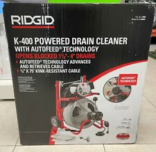 Ridgid 27008 K 400af Drum Machine With 38 Inch Solid Core Integral Wound Cable