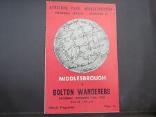 Middlesbrough V Bolton  1970/1