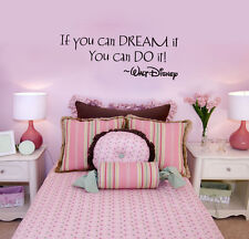 If You Can Dream It Disney Decor Vinyl Wall Decal Quote Sticker Wallpaper Mural