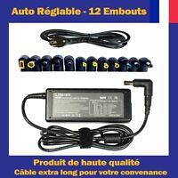 Chargeur d'Alimentation Universel 90W Pour Ordinateur PC Portable + 12 Embouts