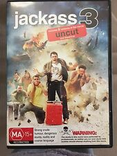 Jackass 3 [Uncut] (Like New) DVD, MA15+ (Johnny Knoxville)