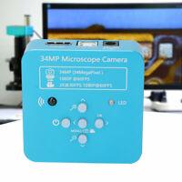 34MP Industrie Mikroskop 1080P Microscope HDMI USB 2.0 C-Mount Kamera EU