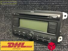 SKODA FABIA ROOMSTER 09-15 CD PLAYER RADIO HEAD UNIT WITH CODE 5J0035161