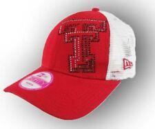 3025bfb228a3d1 Womens College NCAA Texas Tech adjustable New Era Baseball Hat Cap Red &  White