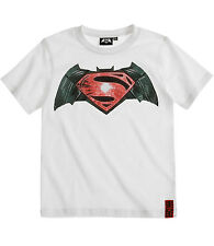 Boys Boy's Batman VS Superman Dawn of Justice Movie Film T-shirt T Shirt Age 10 White