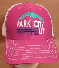 Park City Hat Cap Snapback Trucker Utah Skiing Snowboarding USA Embroidery New