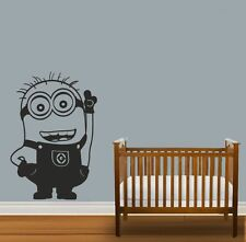 Minion Minions fun Boys Kids Quote Wall Stickers Art Room Removable Decals DIY