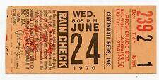 CROSLEY FIELD LAST GAME Ticket Stub Reds Giants June 24  1970