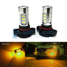 2x Yellow H16 5202 LED Bulbs 15W SMD 5730 High Bright Fog Light DRL + Projector