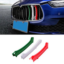 Front Grill Grille Insert Trim Cover For Maserati Ghibli 2014-2017 Car Stickers