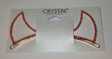 Devil Horns Bobby Pins Crystal Avenue Halloween Costume New Red Gold Tone