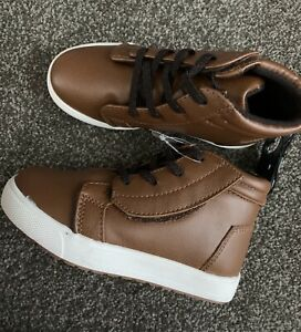 Wonder Nation Toddler Boys' Casual High Top Sneakers Brown Size 10 NWT