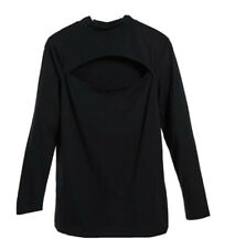 New Look Curve cut out front turtle neck top black UK 20