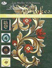 Beautiful Strokes:  Norwegian Rosemaling book by Lois Mueller VGM NEW Folk Art