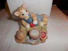 "Calico Kitten Figurine: ""Feel-Ine Fine In The Country"""
