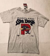 Portland Sea Dogs Baseball MiLB MLB Vintage Gray T-Shirt Men's Small