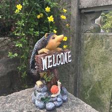 Hedgehog Welcome Decorative Garden Ornament 24cm Patio Landscape Decoration