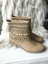 NEU 👣 Tolle Bullboxer Damen Stiefeletten Boots Hippie Style Gr. 42 beige