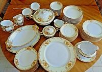 Meito Fine China 1936 Japan V1849 Hand Painted Gold 90 Pieces
