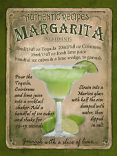MARGARITA   COCKTAIL RECIPE METAL SIGN :HOME BAR:PUB:BAR:CAFE:  LOVELY GIFT
