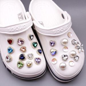 50Pcs Metal  Shoe Charms Rhinestone JIBZ Shoe Accessories Decor Buckle