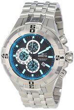 12349 Invicta Men 52mm Pro Diver XXL QTZ Chronogrph Black Dial SS Bracelet Watch