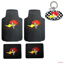 New Mr Horsepower Classic Logo Car Truck Front Rear Rubber Floor Mats Keychain
