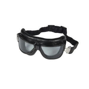 Vintage Motorcycle Touring Goggles Smoked Lense - Flying Tiger