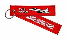 "REMOVE BEFORE FLIGHT - F-18 "" Hornet "" - Schlüsselanhänger - F 18 - F18"
