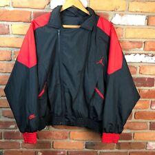 0c70753e176 Vintage Nike Air Jordan Flight Bred Windbreaker Jacket Mens L Rare Michael  Bulls
