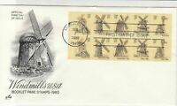 united states 1980 booklet pane stamps cover ref 20019