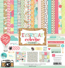 """Echo Park """"Everyday Eclectic"""" 12x12 Scrapbook Kit Papers + Stickers Family Home"""