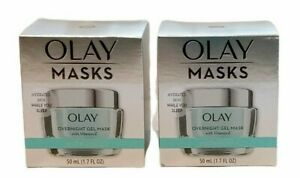 Olay Hydrating Overnight Gel Mask 1.7 Fluid Ounce  Lot of 2