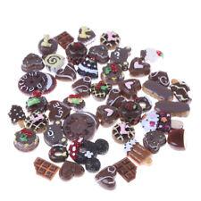 10pcs Resin Mixed Chocolates Pattern Flatbacks DIY Craft Kitchen Food TOY FG